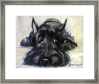 Mischief Framed Print by Mary Sparrow