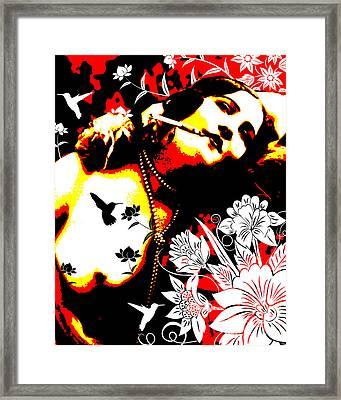 Mischievious Hummingbird Framed Print by Chris Andruskiewicz