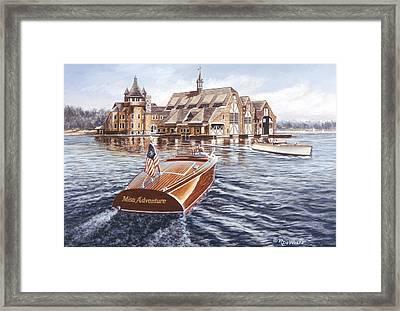Miss Adventure Framed Print by Richard De Wolfe