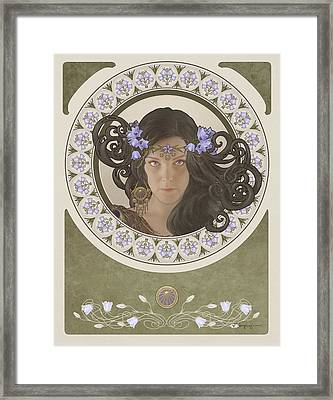 Miss Bluebell Framed Print by Cassiopeia Art