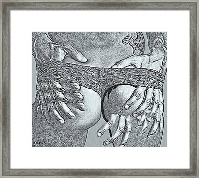 Miss. Conception Framed Print by Gina Seymour