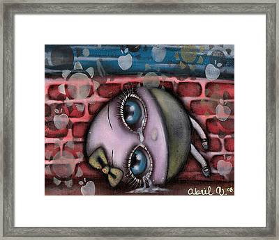 Miss Humpty Dumpty Framed Print by  Abril Andrade Griffith