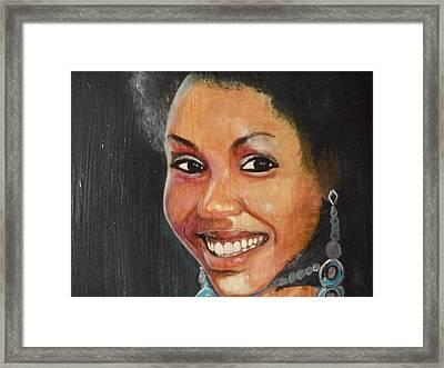 Miss Ingenuity  Framed Print by Nixon Mwangi