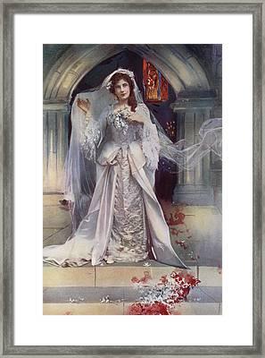 Miss Lena Ashwell In Bonnie Dundee Framed Print by English School