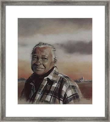 Miss Lottie Framed Print by Nanybel Salazar