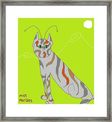 Miss Marbles My Favorite Martian Framed Print by Anita Dale Livaditis