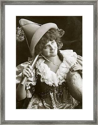 Miss Marie Studholme As Lady Madcap 1905 Framed Print by Sarah Vernon