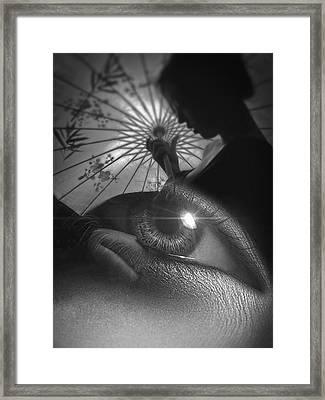 Miss Saigon Black Framed Print by ISAW Company
