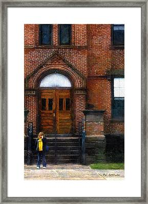 Missed Bus Framed Print by RC deWinter