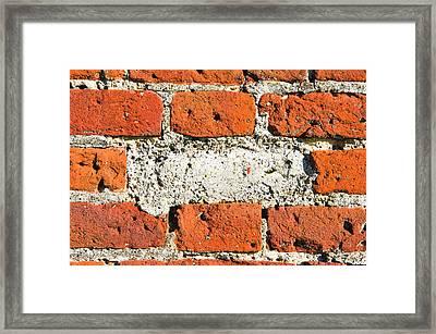 Missing Brick Framed Print by Tom Gowanlock