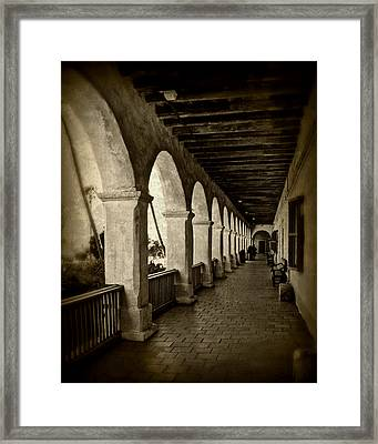 Mission Arches Framed Print by Perry Webster