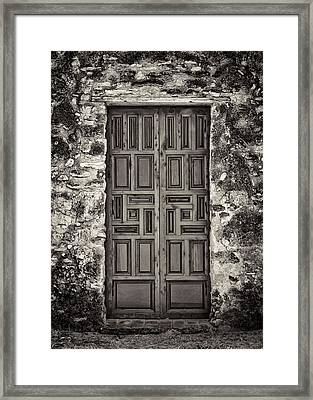 Mission Concepcion Door #1 Framed Print by Stephen Stookey