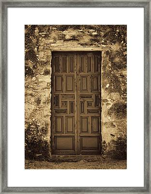 Mission Concepcion Door #2 Framed Print by Stephen Stookey