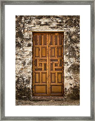 Mission Concepcion Door #3 Framed Print by Stephen Stookey