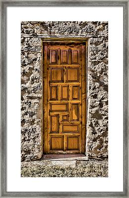 Mission Concepcion Door Framed Print by Stephen Stookey