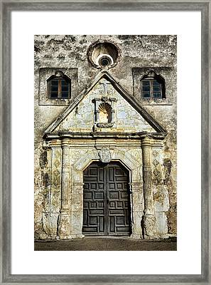 Mission Concepcion Entrance Framed Print by Stephen Stookey