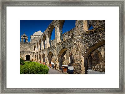 Mission San Jose Framed Print by Inge Johnsson
