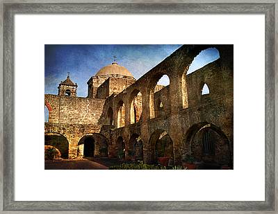 Mission San Jose Framed Print by Melany Sarafis