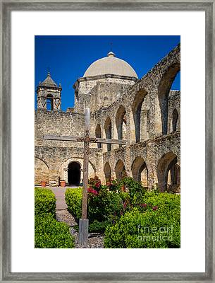 Mission San Jose Towers Framed Print by Inge Johnsson