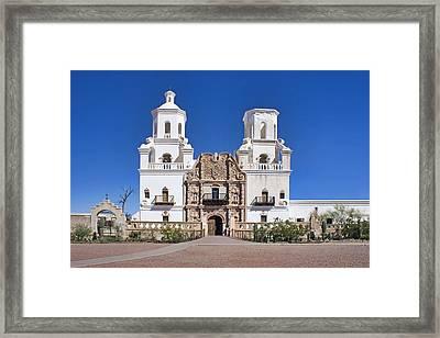 Mission San Xavier Del Bac - Arizona Framed Print by Nikolyn McDonald