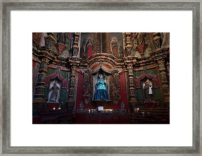 Mission San Xavier Del Bac II Framed Print by David Gordon