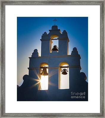 Mission Sunset Framed Print by Inge Johnsson