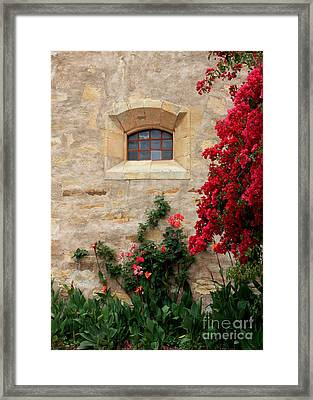 Mission Window Framed Print by Carol Groenen