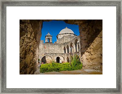 Mission Window Framed Print by Inge Johnsson