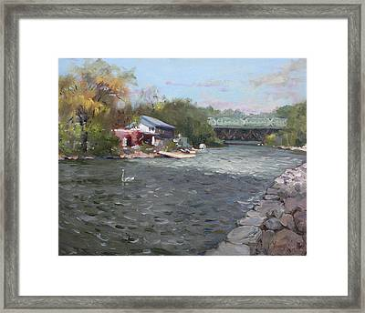 Mississauga Canoe Club Framed Print by Ylli Haruni