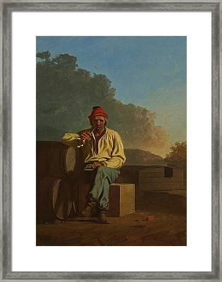 Mississippi Boatman Framed Print by George Caleb Bingham