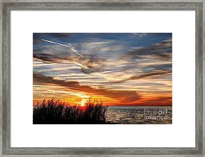 Mississippi Gulf Coast Sunset Framed Print by Joan McCool