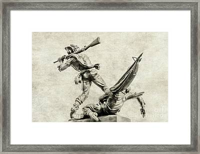 Mississippi Monument At Gettysburg Framed Print by Randy Steele