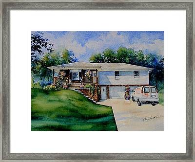 Missouri Home Portrait Framed Print by Hanne Lore Koehler