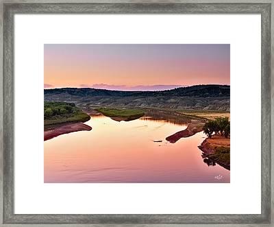 Missouri River Framed Print by Leland D Howard