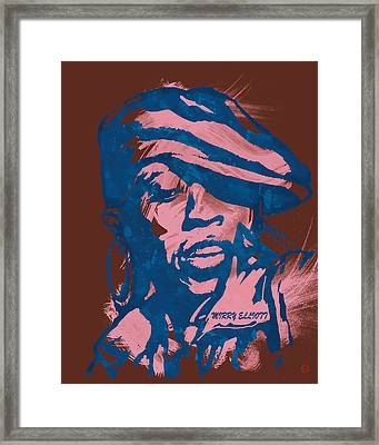 Missy Elliott Pop Stylised Art Sketch Poster Framed Print by Kim Wang