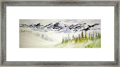 Mist In The Mountains Framed Print by Joanne Smoley