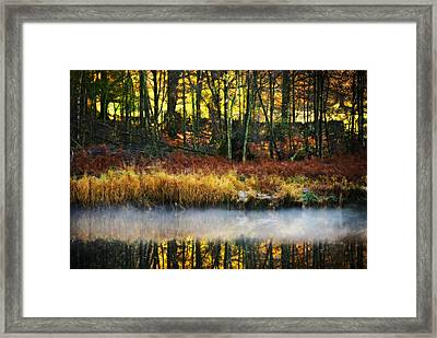 Mist On The Water Framed Print by Meirion Matthias