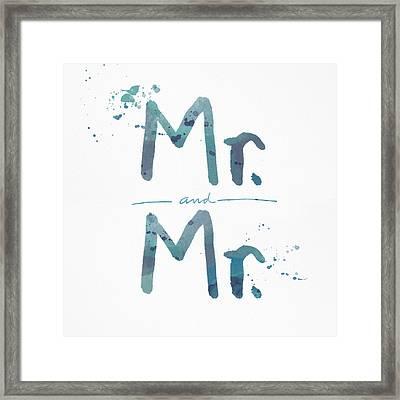 Mister And Mister  Framed Print by Linda Woods