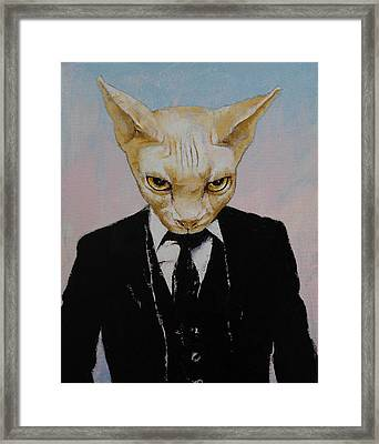 Mister Cat Framed Print by Michael Creese