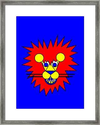 Mister Lion Framed Print by Asbjorn Lonvig