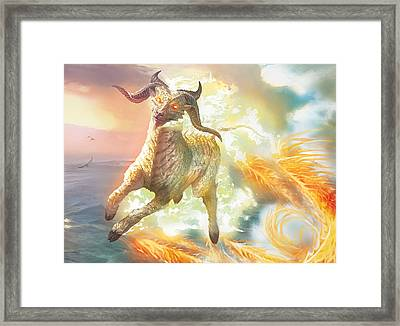 Misthoof Kirin Framed Print by Ryan Barger