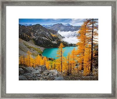 Misty Colchuck Lake Framed Print by Inge Johnsson