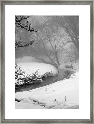 Misty Morning Framed Print by Julie Lueders