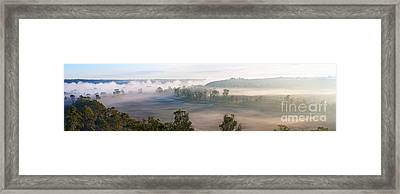 Misty Morning On The Murray Framed Print by Bill  Robinson