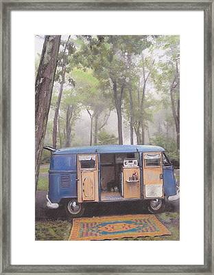 misty Morning Framed Print by Sharon Poulton