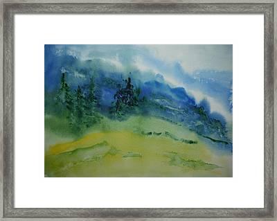 Misty Mountain Framed Print by Bitten Kari