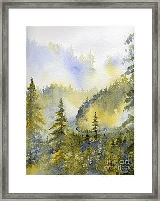 Misty Mountain Morning Framed Print by Lisa Bell