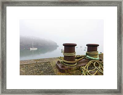 Misty Mylor Moorings Framed Print by Terri Waters