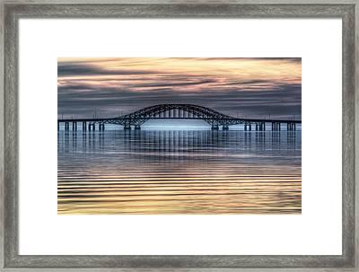 Misty Reflective Sunrise Framed Print by Vicki Jauron