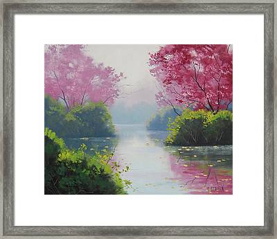 Misty River Framed Print by Graham Gercken